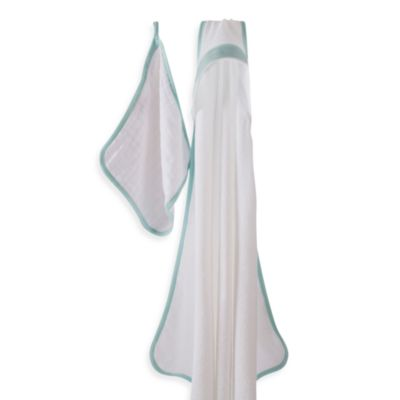 aden + anais® La Mer Hooded Towel & Washcloth Set