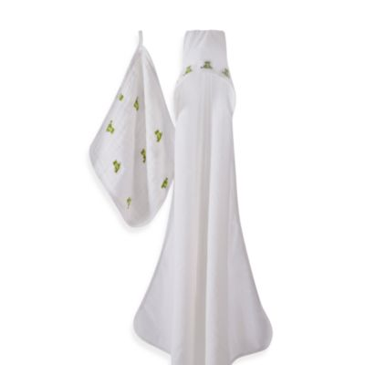 aden + anais® Mod About Baby Frog Hooded Towel & Washcloth Set
