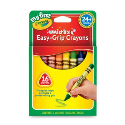Crayola® My First Crayola 16-Count Washable Easy-Grip Triangular Crayons