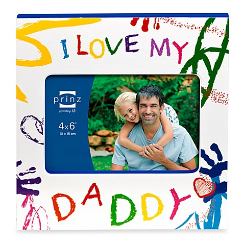 Prinz Made with Love I Love My Daddy Wood Photo Frame