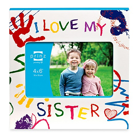Prinz Made with Love I Love My Sister Wood Photo Frame