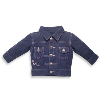 Elegant Baby Girl's Size 6 to 12 Months My First Jean Jacket