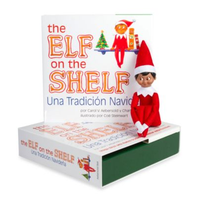 The Elf on the Shelf® Una Tradicion Navidena with Dark Skin Boy Elf, Spanish Version