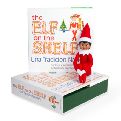 The Elf on the Shelf® Una Tradicion Navidena Book Set with Dark Skin Girl Elf, Spanish Version