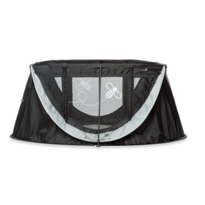 ParentLab journeyBee Portable Crib in Black/Silver