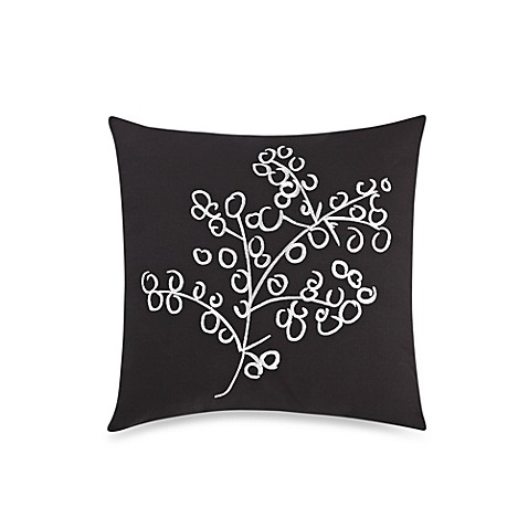 notNeutral® Pom Pom Black Square Throw Pillow