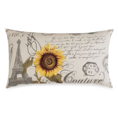 Couture Sunflower Toss Pillow