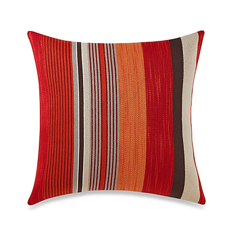 Alameda Warm Stripe Square Toss Pillow