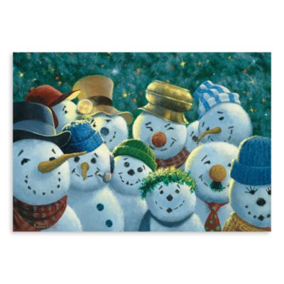 Bungalow Flooring Surfaces Snowman Pattern 18-Inch x 27-Inch Kitchen Floormat