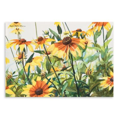 Surfaces Black Eyed Susans Kitchen Floormats