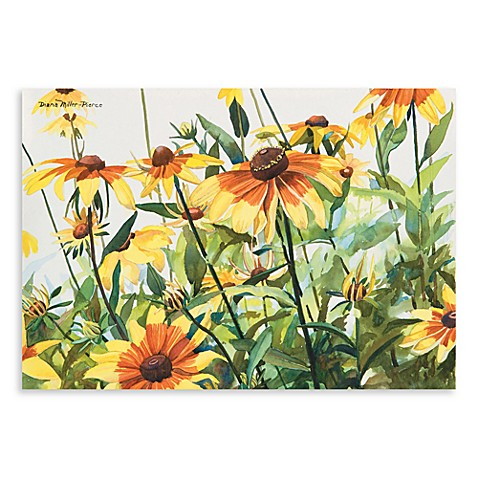 Surfaces Black Eyed Susans 18-Inch x 27-Inch Kitchen Floormat