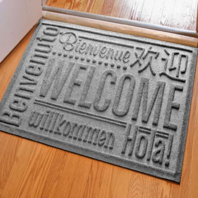 Weather Guard™ 2-Foot x 3-Foot Welcome Door Mat in Medium Brown