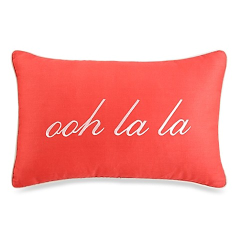 Buy kate spade new york mixed petal oblong toss pillow for Bed bath and beyond kate spade