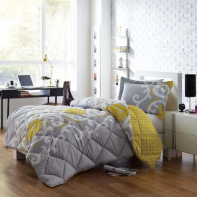 Micro Splendor Lilly Twin/TXL Reversible Comforter Set