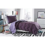 Micro Splendor Reversible Twin /Twin XL Comforter Set in Purple