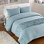 Jersey Channel Stitch Comforter and Sham Set in Turquoise