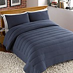 Jersey Channel Stitch Comforter and Sham Set in Navy