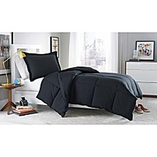 Micro Splendor Comforter Set in Black