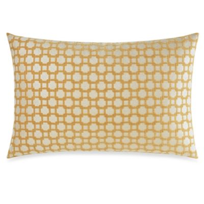 La La Lattice Oblong Toss Pillow