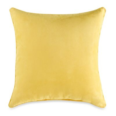 Sueded 20-Inch Toss Pillow in Yellow