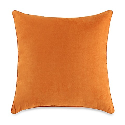 Bed Bath And Beyond Orange Throw Pillows : Suede 20-Inch Square Throw Pillow in Orange - Bed Bath & Beyond