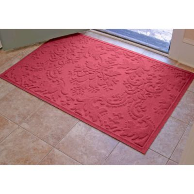 Weather Guard™ Damask 34-Inch x 52-Inch Door Mat in Medium Brown
