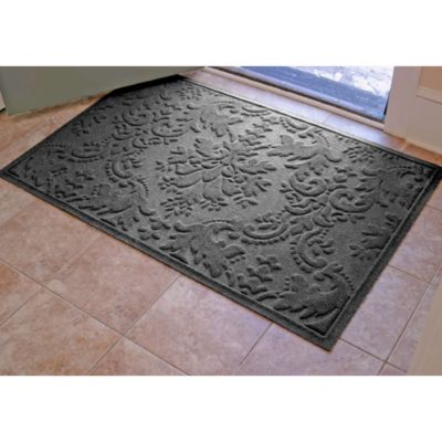 Weather Guard™ Damask 34-Inch x 52-Inch Door Mat in Charcoal