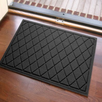 Weather Guard™ 23-Inch x 35-Inch Argyle Door Mat in Charcoal