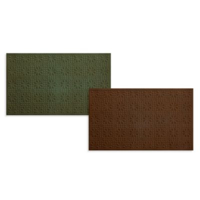 Bungalow Flooring Stained Glass 3-Foot x 5-Foot Floormat in Chocolate