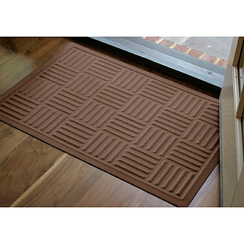 Microfibre® Low Profile Parquet 2-Foot x 3-Foot Door Mat in Chocolate