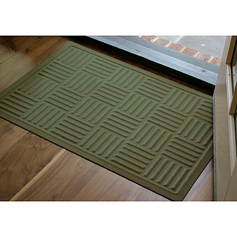 Microfibre® Low Profile Parquet 2-Foot x 3-Foot Door Mat in Green