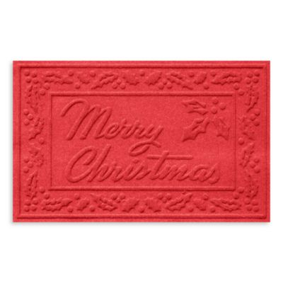 Weather Guard™ 2-Foot x 3-Foot Merry Christmas Door Mat in Dark Brown