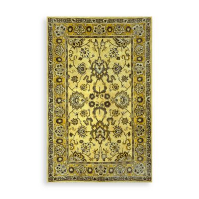 Trans-Ocean Agra 5-Foot x 8-Foot Rug in Yellow