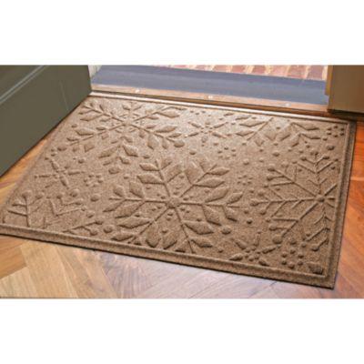 Weather Guard™ 23-Inch x 35-Inch Snowflake Door Mat in Medium Brown