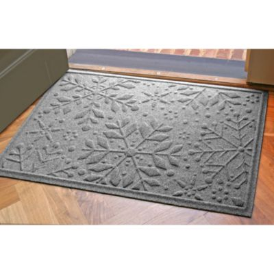 Weather Guard™ 2-Foot x 3-Foot Snowflake Door Mat in Medium Brown
