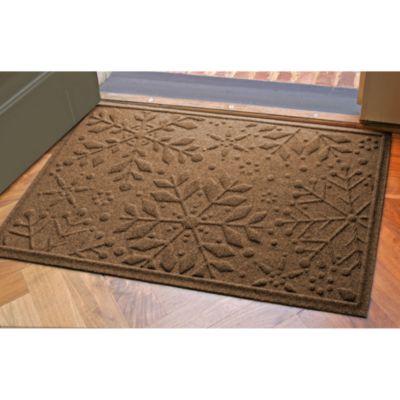 Weather Guard™ 23-Inch x 35-Inch Snowflake Door Mat in Dark Brown