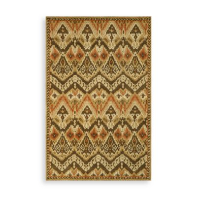 Trans-Ocean Ikat Indoor/Outdoor Rug in Camel