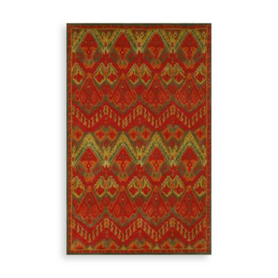 Trans-Ocean Ikat Rug in Red
