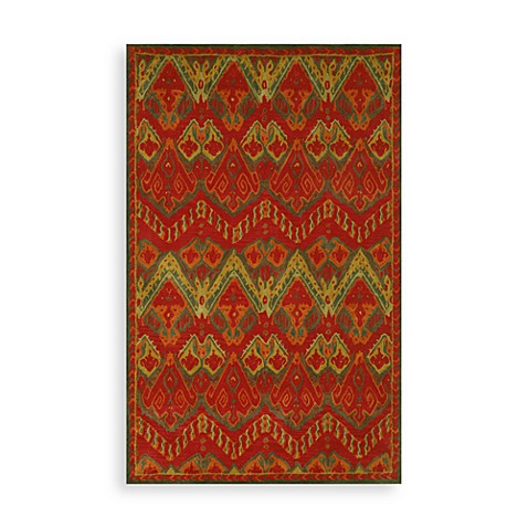 Trans-Ocean Ikat Indoor/Outdoor Rug in Red