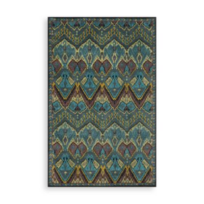 Trans-Ocean Ikat Rug in Jewel