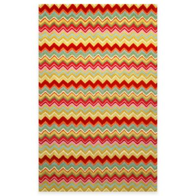 Trans-Ocean Zigzag Stripe Rug in Multi
