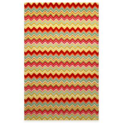 Trans-Ocean Zigzag Stripe 2-Foot 3-Inch x 8-Foot Rug in Multi