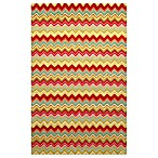 Trans-Ocean Zigzag Stripe Multi Indoor/Outdoor Rug