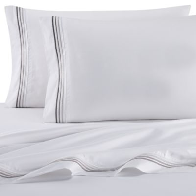 DKNY Horizon Queen Sheet Set in White