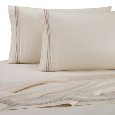 DKNY Horizon Queen Sheet Set in Ecru