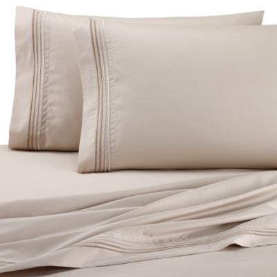 DKNY Horizon Standard Pillowcases (Set of 2) in Sand