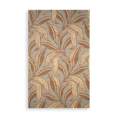 Trans-Ocean Leaf 2-Foot x 8-Foot Indoor/Outdoor Rug in Driftwood