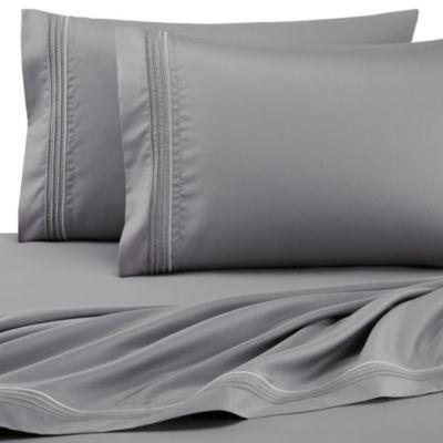 DKNY Horizon Queen Sheet Set in Grey