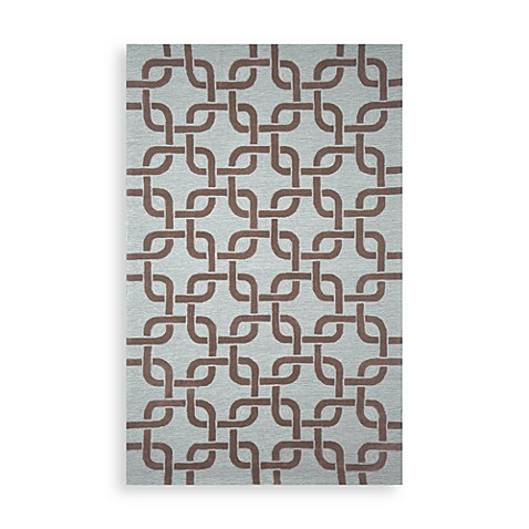 Trans-Ocean Chains 8-Foot 3-Inch x 11-Foot 6-Inch Indoor/Outdoor Rug in Driftwood