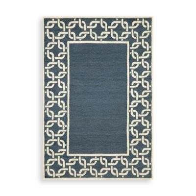 Trans-Ocean Chain Border 2-Foot x 3-Foot Indoor/Outdoor Rug